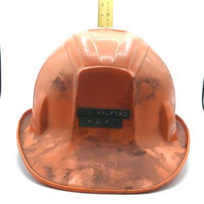 Apex Orange Plastic Vintage Hard Hat