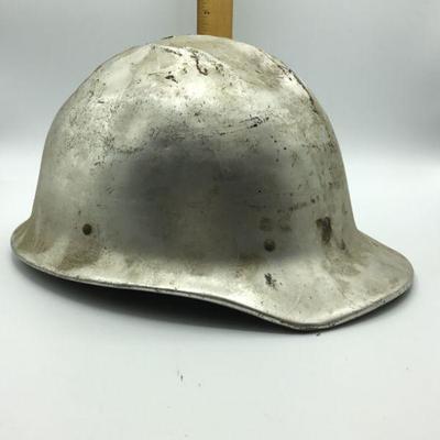 Vintage Silver Safety Hard Hat E.D. Bullard Co Hard Boiled