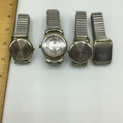 4 Vintage Mens Watches *NOT RUNNING*