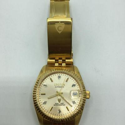 Goldtone Men's Croton Automatic Watch