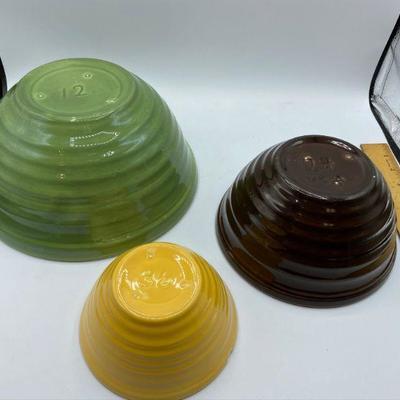 Vintage Bauer Beehive Ring Ware Mixing Bowl Set
