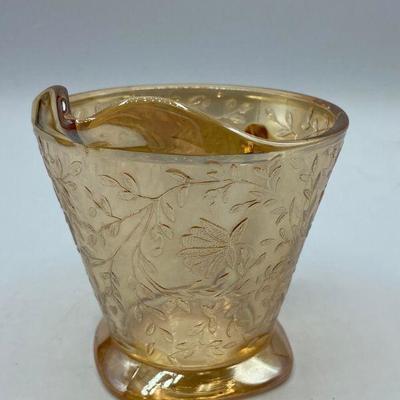 Peach Luster Carnival Glass Creamer