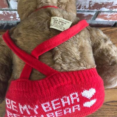 Bear with ted knit overalls