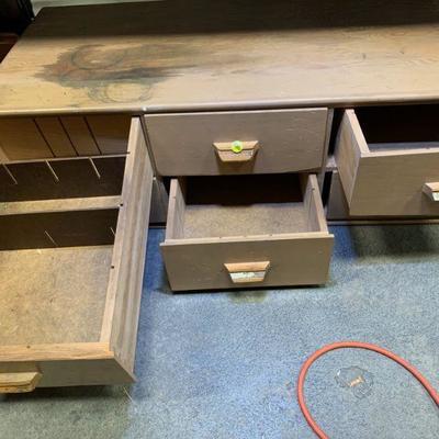 #80 Six Drawer Wooden Storage Box / Tool Box
