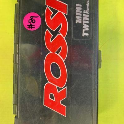 #89 Rossi Mini Twin Box FLIES, HOOKS, SPINNER, SINKERS INCLUDED