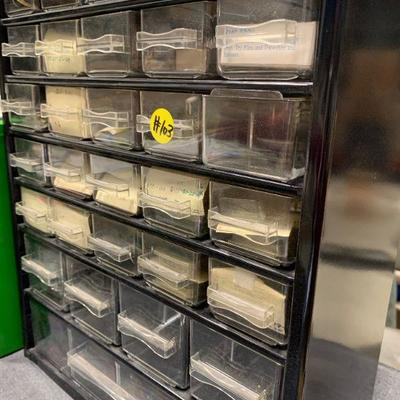 #103 Storage Tower with Small Drawers & Fishing Misc.