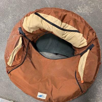 #5 Orange Inflatable Raft