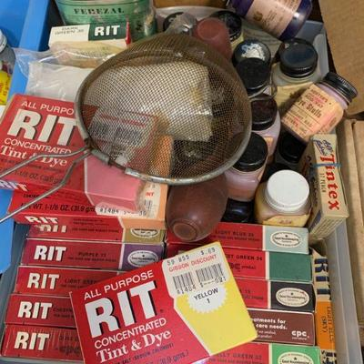 #Box of Misc. Vintage Dyes