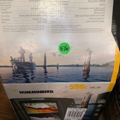 #26 Humminbird 596C Fish Finder