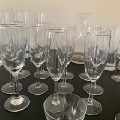 7. Assorted stemware (including Marquis globes)
