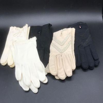 5 Pairs of Vintage Women's Gloves