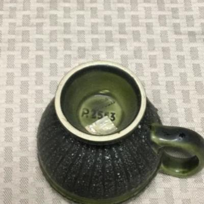 Vintage Green Coffee Cup