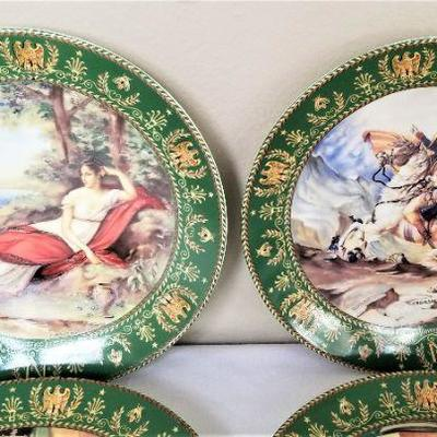 Lot #1  Set of 5 Darceau-Limoges Limited Edition Plates - the Life of Napoleon