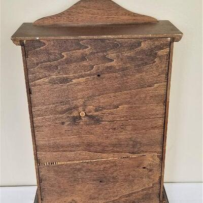 Lot #5  Small Wooden Display Cabinet with Glass Doors
