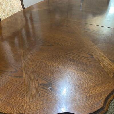 Thomasville Expandable Dining Room Table and Chairs