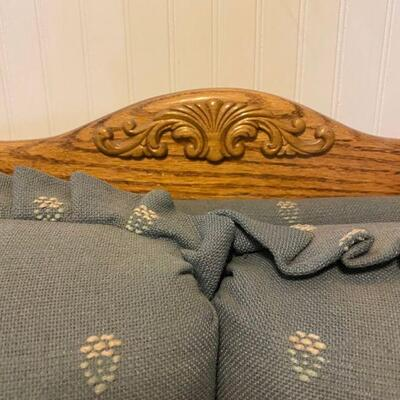 Vintage Country Blue Love Seat Couch