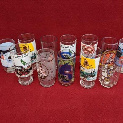 Random art glass cups
