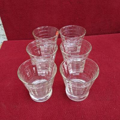 Vintage crown royal glasses 6pc set