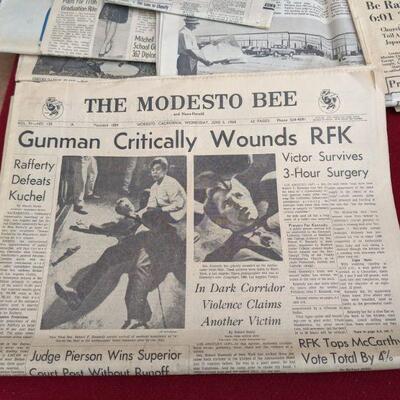 Vintage newspaper collection