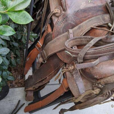 3 Horse saddle lot with some extras