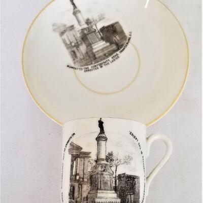 Lot #26  Antique Cup and Saucer - Confederate Monument