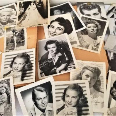 Lot #27  Large Lot of 1940's and '50's movie star Postcards - Real Autograph Susan Hayward