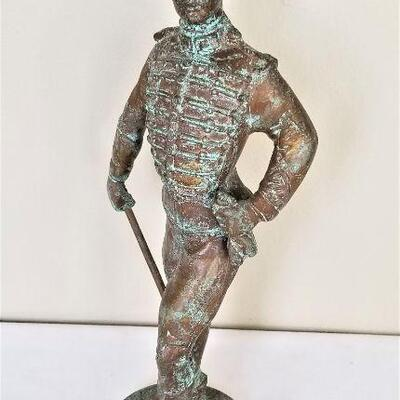 Lot #28  Metal Figure of an English Soldier - Contemporary, Heavy