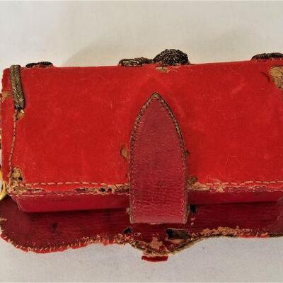Lot #33  19th Century British Officers Belt Pouch - Heavily Decorated - SCARCE