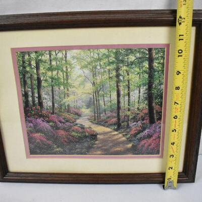 Framed Image, Floral Forest Painting Print