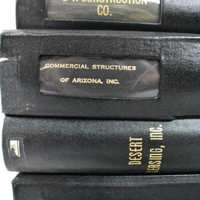 Corporate Records, 8 Black Binders: Blue Gem -to- DOC Enterprises - Vintage