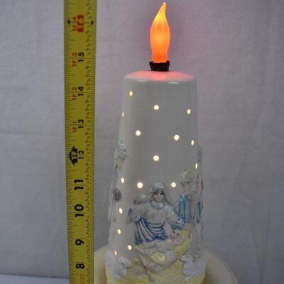 Manger Scene Lamp - Works. 2 pieces Fragile, Vintage