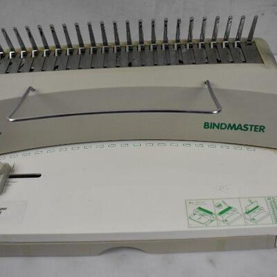 Bindmaster Book Binding Machine & Box of Rings