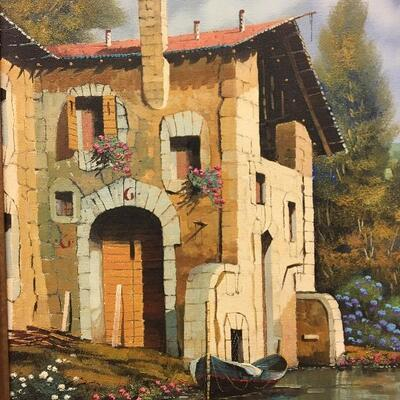 "Guido Borelli Original Oil on Canvas 12"" x 16"""