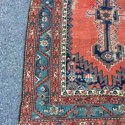 Rare Antique Hand Woven Persian Rug 3'6 x 6'7