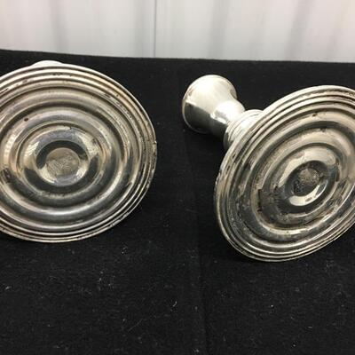 Vintage Pair of Sterling Candle Holders