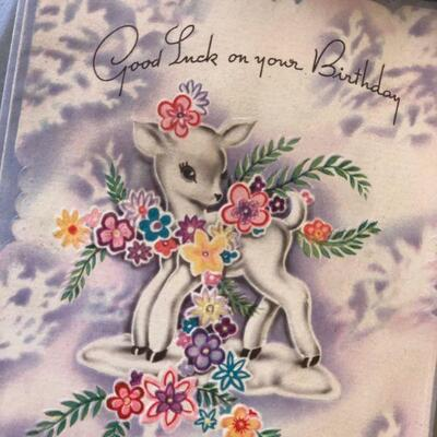 Lot 2 NOS Vintage Greeting Cards