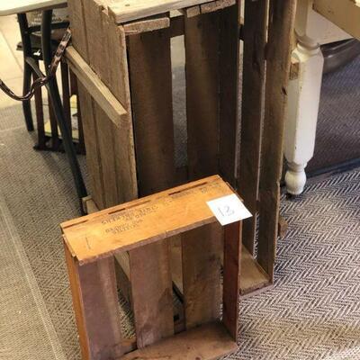 Lot 13 Rustic Farm Wooden Crates