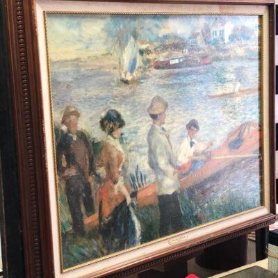 Lot 14 Large Oarsmen at Chateau Framed Print