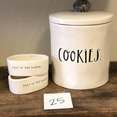 Lot 25 Rae Dunn New Cookies & Salt Boutique Pcs.