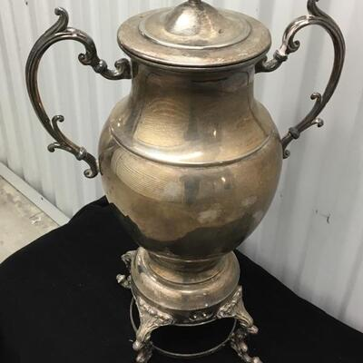 Vintage Silver-plate Samovar Large Electric Coffee Pot