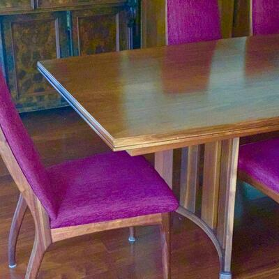 AEC 37 MCM MID CENTURY CUSTOM MADE DANISH MODERN WALNUT DINING ROOM SET