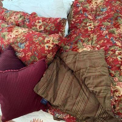 IB 96  VINTAGE RALPH LAUREN CHAPS HOME KING SIZE BED SET
