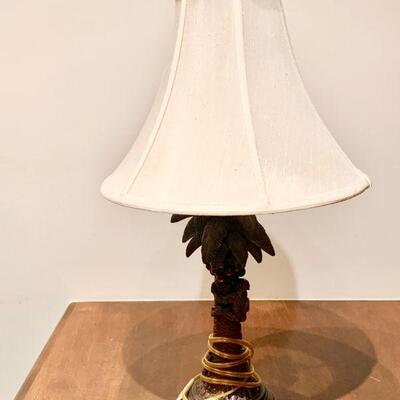 ARC 189   FIGURAL TABLE LAMP MONKEY PALM TREE