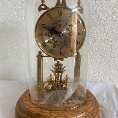 Black Forest glass dome cloche clock