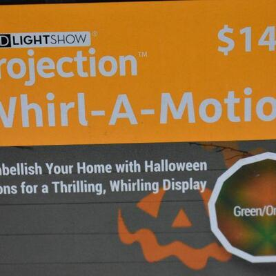 Gemmy Industries Projection Whirl-a-Motion LED Light Show Halloween Decor - New