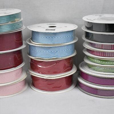 18 Rolls of Ribbon by Stampin' Up! 9 kinds, 2 of each - New