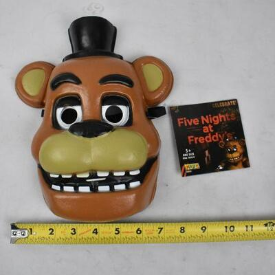 2 pc Halloween: Five Nights at Freddy's Mask, & Black Sequin Bow tie - New