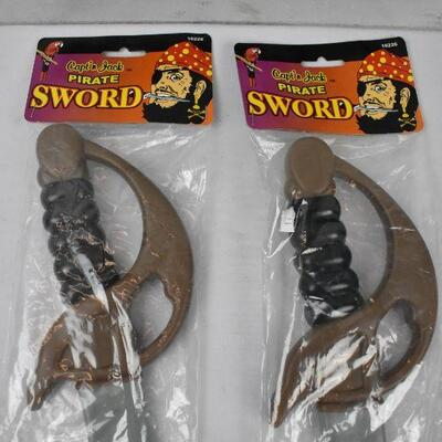 2 plastic Pirate Swords 20
