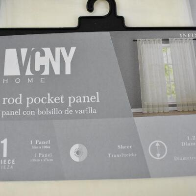 VCNY Sheer Rod Pocket Window Curtains, Qty 2, 55