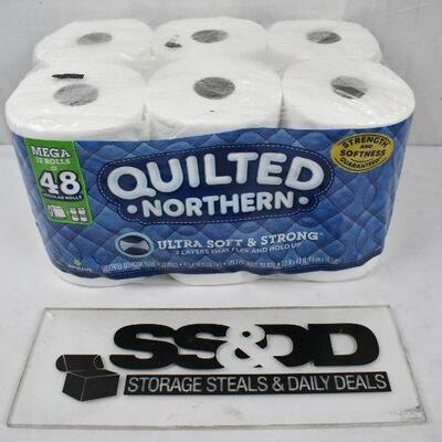 Quilted Northern Ultra Plush Toilet Paper, 12 Mega Rolls (= 48 Regular) - New